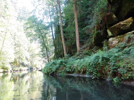 Behem plavby na lodičce si příjemně odpočinete v zátiší stromů