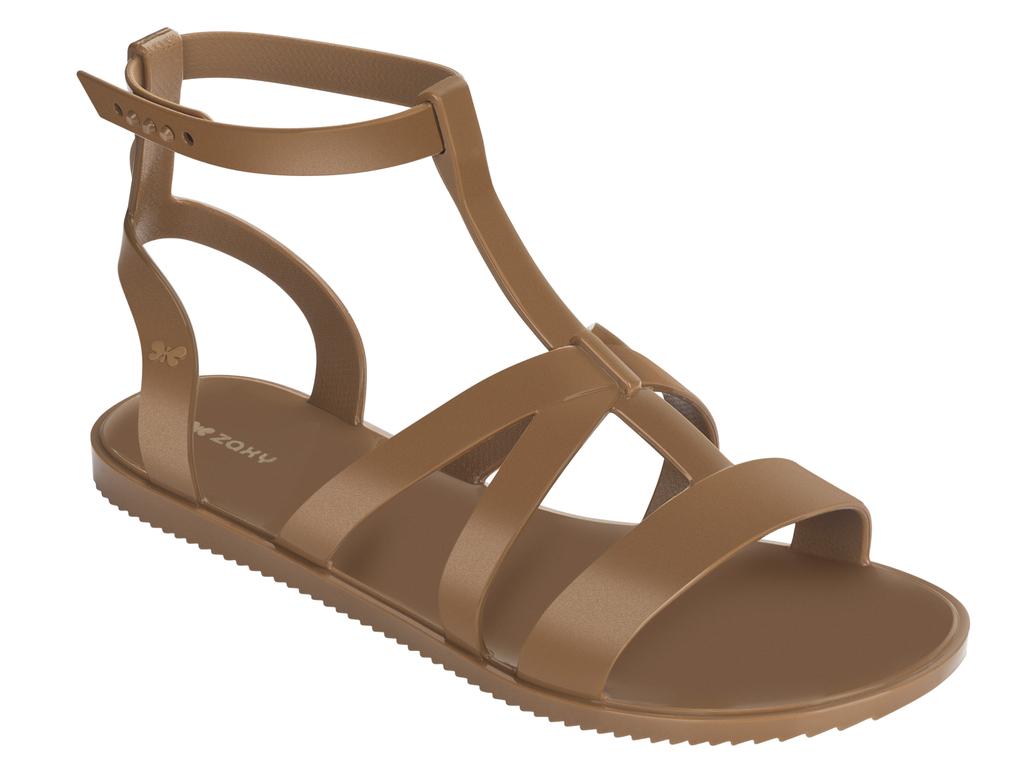 Hnědé sandále Zaxy
